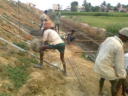 Retaining Wall at Sec.3.Bridge no.26-21