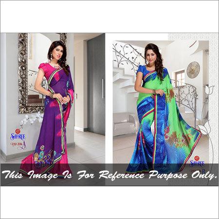 Printed Bordered Saree