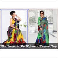 Retro Print Saree