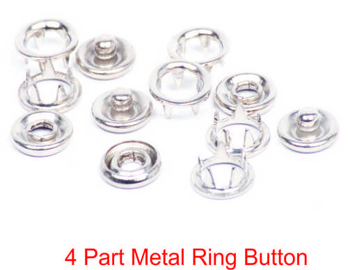 4 PART METAL RING BUTTON