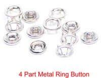 4 PART METAL RING BUTTON