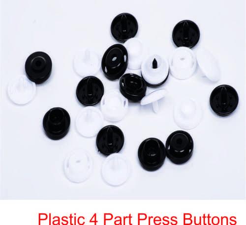 PLASTIC 4 PART PRESS BUTTONS