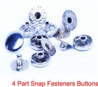 4 PART SNAP FASTENERS BUTTONS