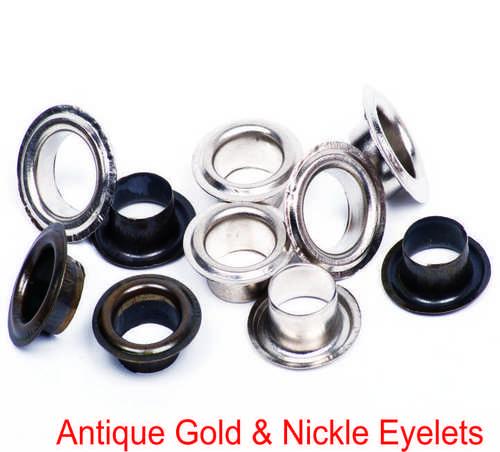 ANTIQUE GOLD & NICKLE EYELETS