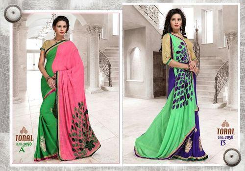 Indian Fancy Work Sarees