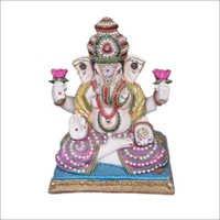 Double Kamal Ganesha Statue