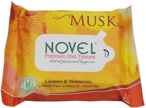 Musk Wet Tissues 25's