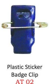 PLASTIC STICKER BAGDE CLIP