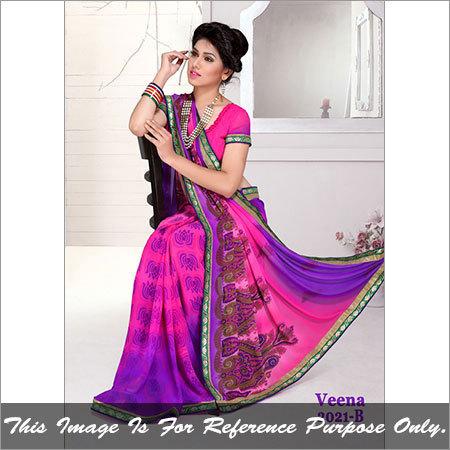 Fancy Printed Designer Saree