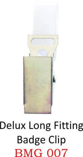 DELUX LONG FITTING BADGE CLIP