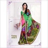Matching Color Saree