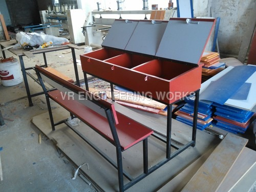 Duel Desk with Lockers