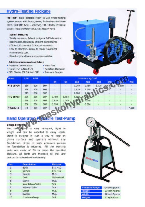 Portable Test Pump