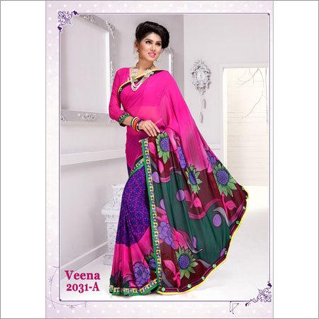 Pink Color Sarees