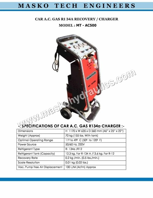 Car Gas AC Charger Machine