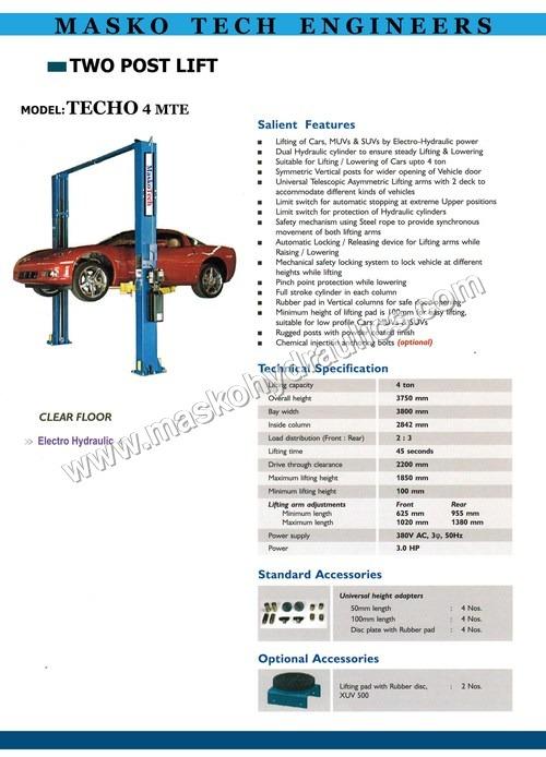 Car Two Post Lift
