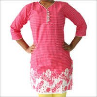 Cotton Cambric Kurti Dots Flowers