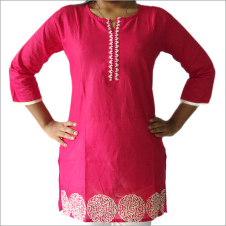 Erum Designer Embroidery Cotton Kurti