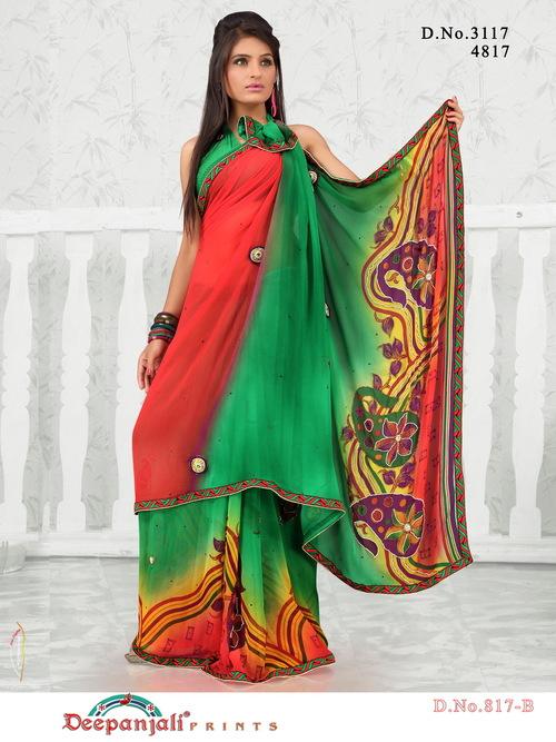 Designer Work Sarees