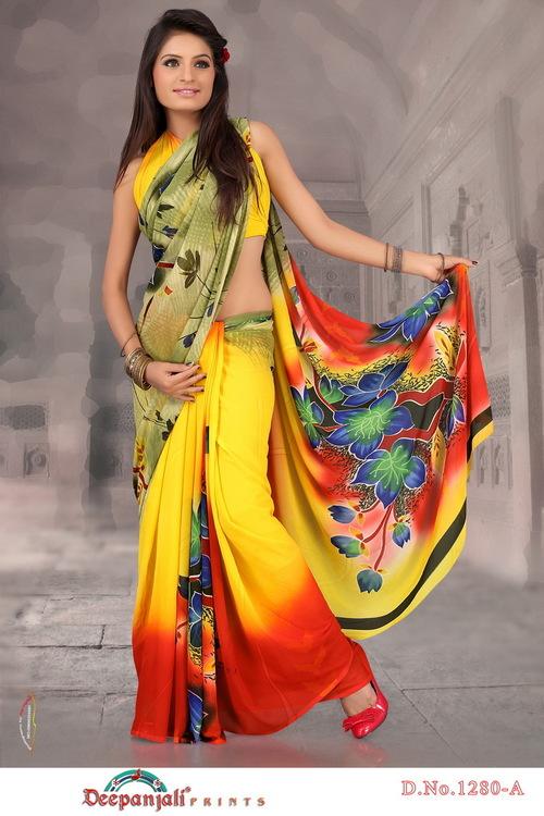 Fancy Yellow Saree