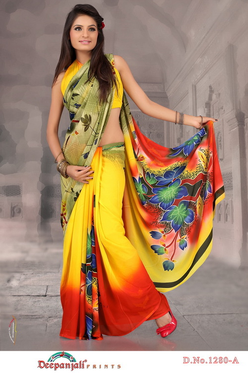 Fancy Yellow Saree