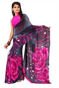 Rose Printed Saree