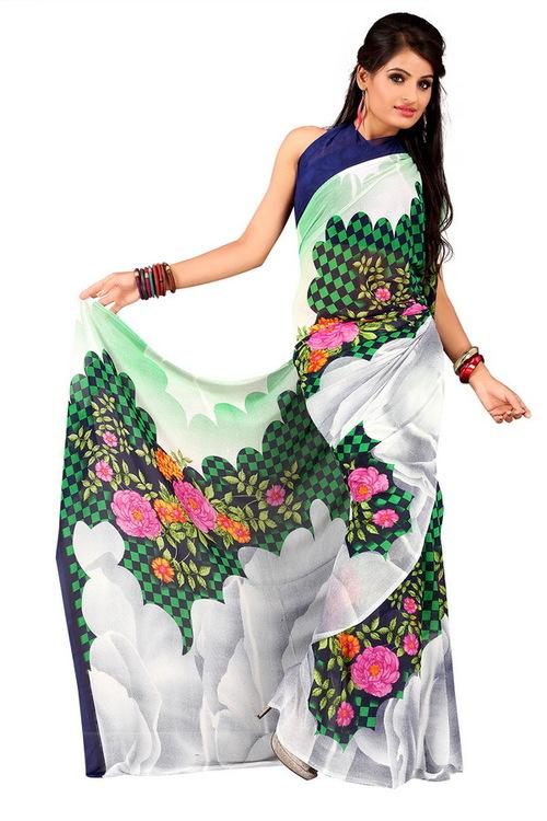 Printed Silk Sari