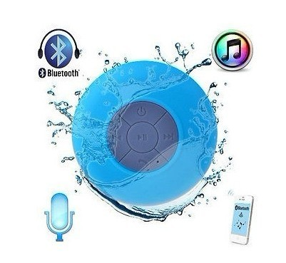 Mini Waterproof Wireless Bluetooth Speaker Shower Hands-free Suction In-car Mic