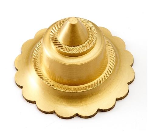 Brass Flower Dome Mirror Cap