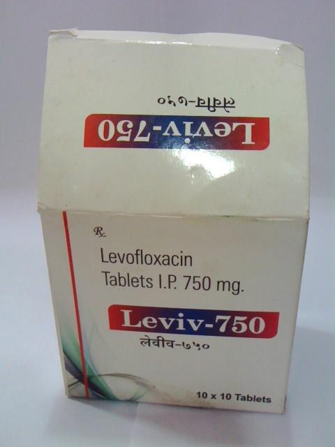 Levofloxaxin 750 mg. Tab.