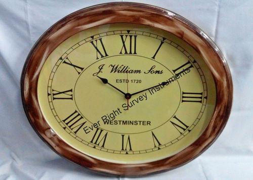 Oval Wood Clock