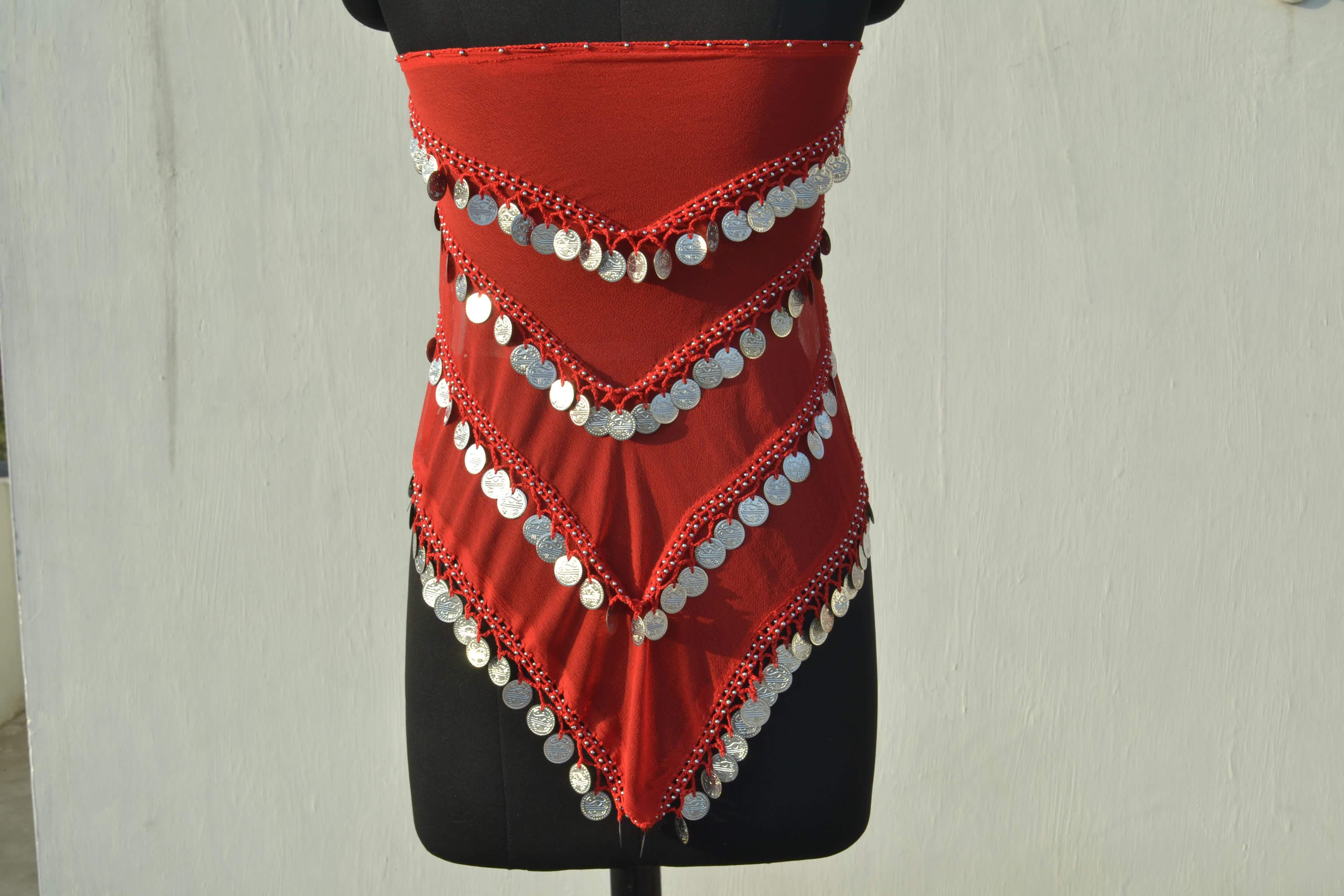 Belly Dance Red Colour Gypsy Belts