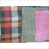 Woolen Tweet Checks Plain Fabric Cloth