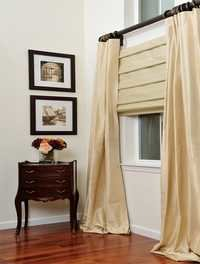 silky Soft fold Roman shade