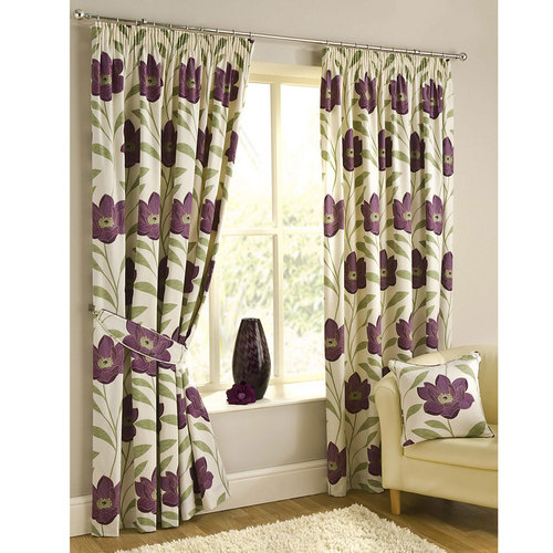 Cotton Printed eye let curtain