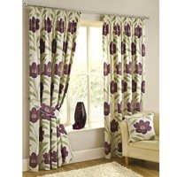 Cotton pleated curtain