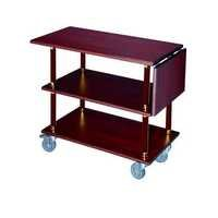 Hotel wood service trolley