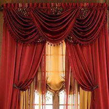 Poly satin curtains