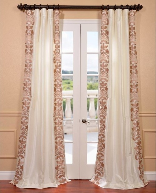 Silk Embroidered  Curtains