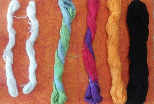 wool dyed yarn