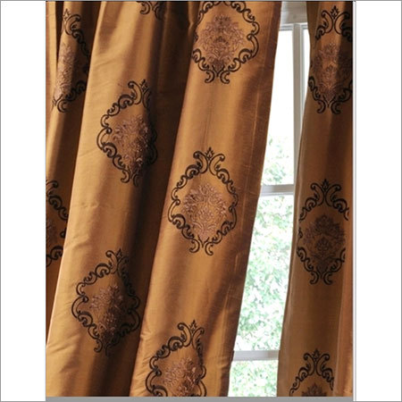 texture silk dupion embroidered fabric