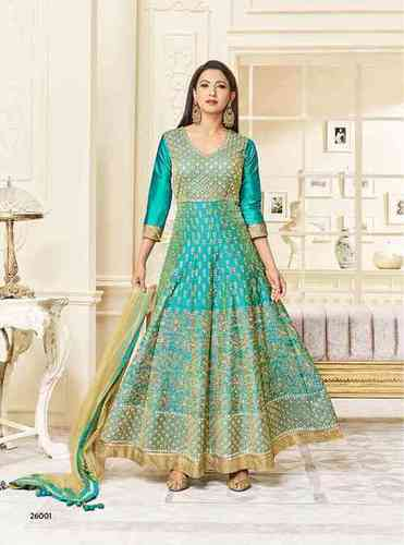 Arihant Hayat Anarkali Catalog  Raw Silk Heavy