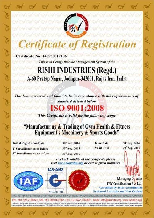 (ISO) RISHI INDUSTRIES (Regd.)