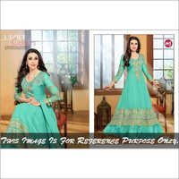 MediumAquaMarine Anarkali Suits