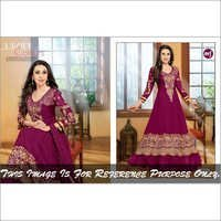 DarkMagenta Anarkali Suits