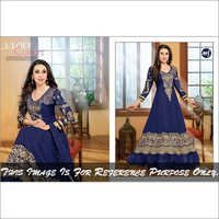 Blue Fancy Anarkali Suits