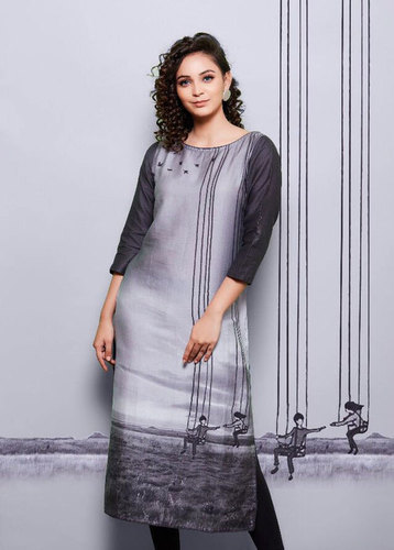 Psynatex Rome 2 Cotton Satin Digital Printed Kurti