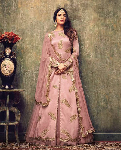 Rangoli with banarasi embroidery salwar suit