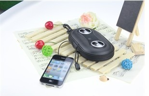 iPhone MP3 Smart Phone Portable Amplified Stereo Speaker Case