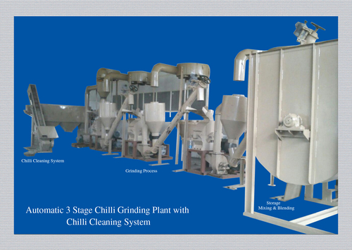 Chilli Grinding with Cleaning System